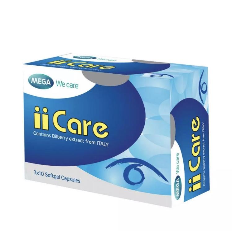 Капсулы для глаз iicare, Mega, 30 капсул