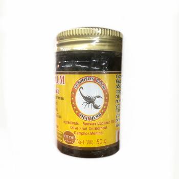 Лечебный бальзам со скорпионом, Royal Thai Herb, 50 гр