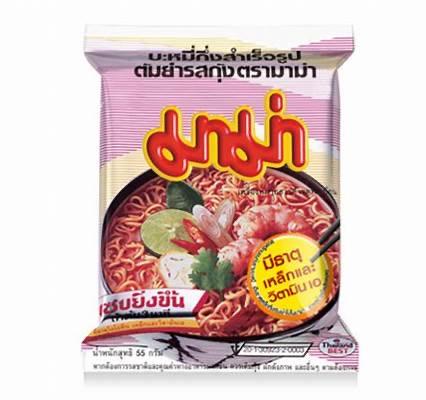 Том Ям лапша быстрого приготовления, Mama, упаковка 10 шт.* 55 гр