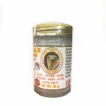 Охлаждающий лечебный бальзам Белая змея, Royal thai Herb, 50 гр