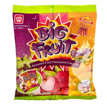 Жевательные конфеты со вкусом манго Big Fruit Mango, Mitmai, 150 г
