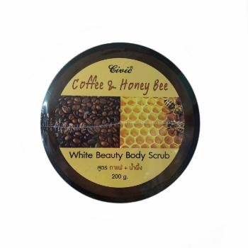 Кремовый скраб для тела с экстрактом кофе и медом, Civic, 200 гр
