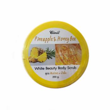 Кремовый скраб для тела с экстрактом ананаса и медом, Civic, 200 гр